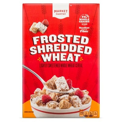 Cereal Frosted Shredded Wheat 18 oz - Market Pantry™