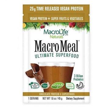 MacroLife Naturals 231908 Vegan Chocolate Macromeal Supplement