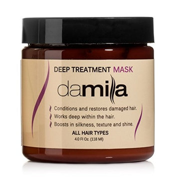 Deep Treatment Mask, Hair Rejuvenating Mask - Hydrolyzed Keratin to Strengthen and Moisturize - Conditions Damaged Hair Treatment by Damila