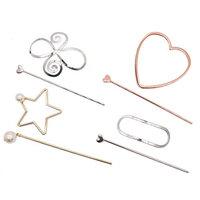 MAISHO 4Pcs Fashion Women's Hair Slide Pin with Stick Hair Clip Accessory