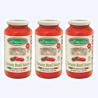 La San Marzano Tomato and Basil Sauce 24 oz. (Pack of 3) - 100% Product of Italy