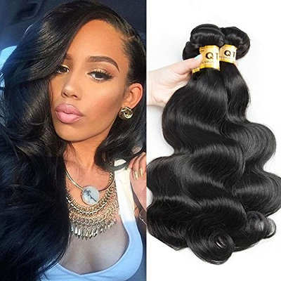 QTHAIR 10A Brazilian Virgin Hair Body Wave 3 Bundles(18 16 14,300g,Natural Black) 100% Unprocessed Brazilian Human Hair Weave Weft Brazilian Body Wave Remy Human Hair Extenions