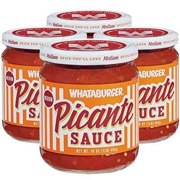 (4-PACK) Whataburger Picante Sauce - 16oz Glass Jar