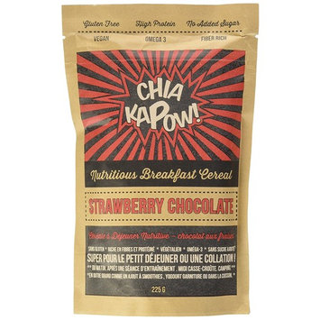 Gluten Free Chia Protein Healthy Breakfast Cereal Superfood Strawberry Chocolate Snack 100% Vegan High Fiber- Kapow Now! Oatmeal Smoothie Yogurt Topping- Omega 3 No Sugar Added