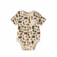 Baby Boy Short Sleeve Printed Pocket Bodysuit