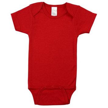 Bambini Red Interlock Short Sleeve Bodysuit Onezie