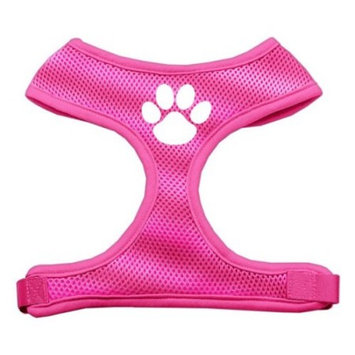 Mirage 70-16 MDPK Paw Design Soft Mesh Dog Harness Pink Medium