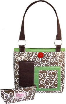 2 Red Hens Rooster Diaper Bag - Latte Swirl