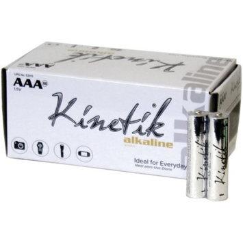 Kinetik 53313 AAA Alkaline Batteries, 50-Pack