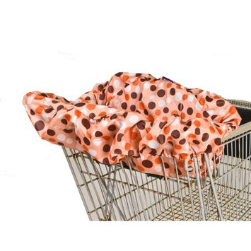 Wupzey Shopping Cart Cover, Orange Dot