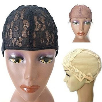 Wig Caps for Making Wigs Stretch Lace Weaving Cap Adjustable Straps DIY Wig Medium Size (Light Brown)