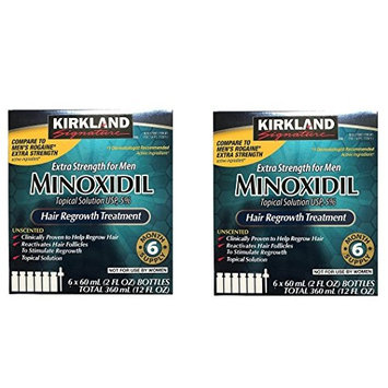 Kirkland Minoxidil 5 percent Extra Srength kYPpcC Hair Regrowth For Men, 6 Month Supply, 2 Ounce Bottle, 6 Count (2 Pack)