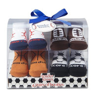 Tender Kisses Infant Boys' 4-Pairs Booties - Sports