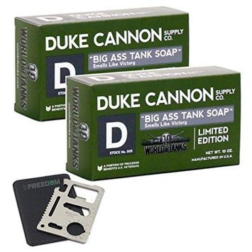 Duke Cannon Big Ass Tank Soap 2-pack Gift Set with 11-function Multi-tool
