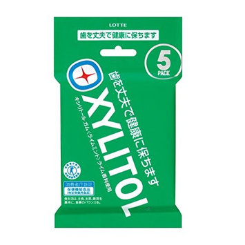 Lotte Japan xylitol gum 5 pack (14 tablets x 5 pcs)