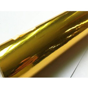 Car Elements Chrome GOLD Golden METALLIC Vinyl Vehicle Decal Car Wrap Film Sheet Air Bubble Free Release DIY For Ford Honda Toyota Dodge Acura BMW Audi Jeep Chevy Cheverolet (60'x12')