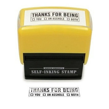 Knock Knock Thanks for Being Self-inking Stamp Office Kit