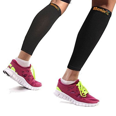 Besjex Compression Calf Leg Sleeve Shin Splint Support Brace 1 Pair X Large