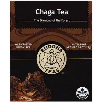 Buddha Teas Chaga Mushroom Herbal Tea, 18 count, 0.95 oz, (Pack of 6)
