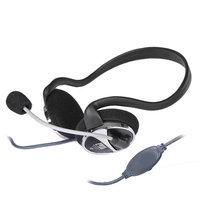 Voiceao Behind the Head Stereo Headphones, Boom Mic & Inline Control - VA-903MV