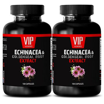 Echinacea herb bulk - ECHINACEA AND GOLDENSEAL ROOT EXTRACT - Cold remedy natural - 2 Bottles 200 Capsules