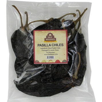 Dried Pasilla Chiles 16 oz For Mole Sauce, Taco Seasoning, Tamales, Salsa, Chili, Meats, Soups, Stews by Ole Mission