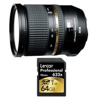 Tamron SP 24-70mm f2.8 Di VC USD Lens and 64GB Card Bundle