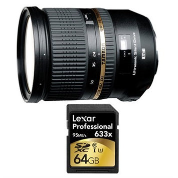 Tamron SP 24-70mm f2.8 Di VC USD Lens and 64GB Card Bundle