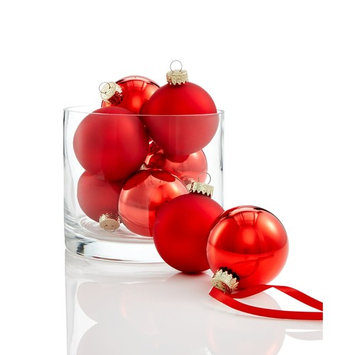 Glass Red Ball Ornaments, Set of 8, Created for Macy's