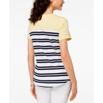 Petite Striped Patch-Pocket Top, Created for Macy's