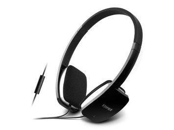Edifier P640 Headphones Chic Stylish Headset With Microphone and Inline Control - Black