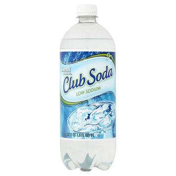 Great Value Club Soda, Low Sodium, 33.8 oz (Pack of 6)