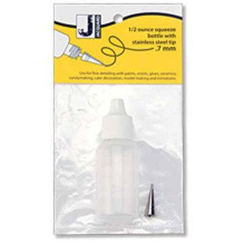 Jacquard - Small Applicator Bottle - 1/2 fl. oz./14ml Plastic Bottle with .7mm Plastic Tip