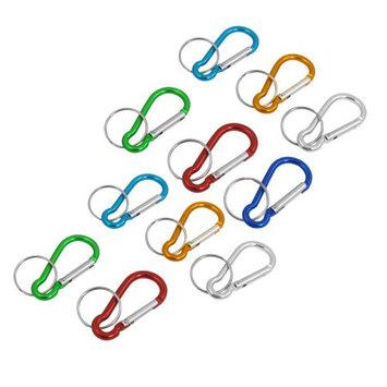 11 x Colorful Aluminum Bag Bottle Ornament Keyring Carabiner Clip