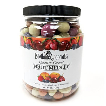 Chocolate Covered Fruit Assortment - Gourmet Chocolate Dried Fruit Candy, 3lb Jar - by Dilettante