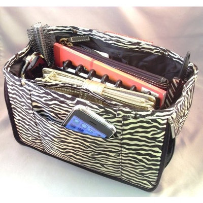 Expandable Handbag Purse Tote Travel Cosmetic Make-Up Bag Organizer Insert Dimensions: 10.5
