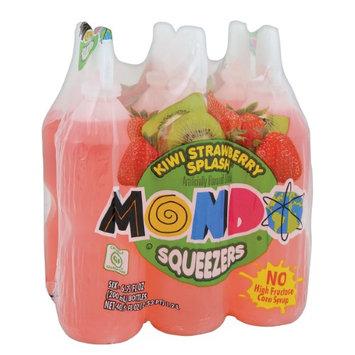 Jel Sert MONDO Fruit Squeezers, Kiwi Strawberry, 6.75 Fl Oz, 6 Ct
