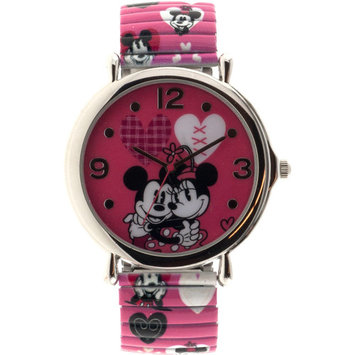 Disney Minnie Women's Analog Watch, Pink Print Strap