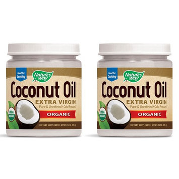Nature's Way Organic Extra Virgin Coconut Oil, 32 Ounce, 2 Pack