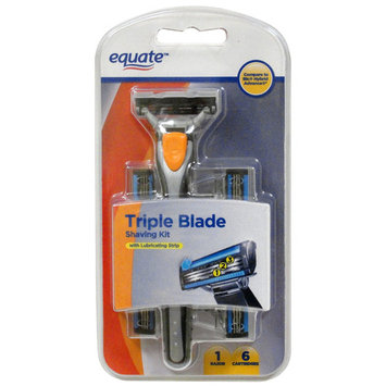 Equate Men's Razor with 6 Triple Blade Disposable Shave Kit