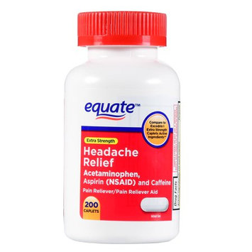 Equate Headache Relief Caplets, 200 Count