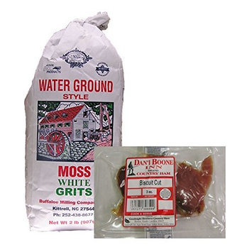 Moss Water Ground White Grits and Dan'l Boone Country Ham