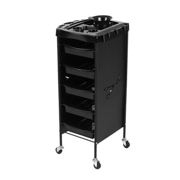 Anself Salon Tray Cart Trolley Hair Rolling Cart Barber Hairdressing Storage Cart Drawers
