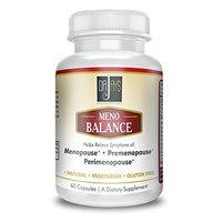 Dr. Jay's Meno Balance Herbal Supplement - Health Alternative For Hot Flashes, Low Estrogen, Pre & Post Menopause - Gluten Free w/Ginger Root, Ginkgo Biloba, Ashwagandha & Black Cohosh - 60 capsules