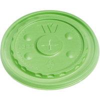 Choiix WCPL32SVIO - WinCup Vio Biodegradable Lids f/32 oz Cups; Straw-Slot; Green; 500/Carton