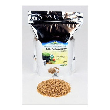 Organic Golden Flax Seeds - 2.5 Lbs Resealable Bag - Handy Pantry Brand - Yellow/Gold Flaxseeds - Flax Seed for Sprouting, Grinding, Omega Oils, Baking