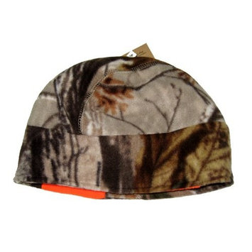 Grabber Warmers Fleece Hat Reversible Realtree All-purpose/Blaze Orange with Warmer Pockets and Grabber Hand Warmer Pair