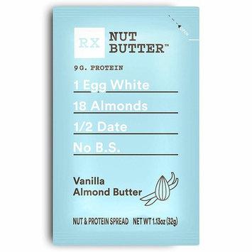 RX Nut Butter, Vanilla Almond Butter, 1.13oz Packs, 10 Count [Vanilla Almond Butter]