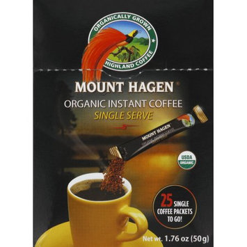 Mount Hagen Coffee, Instant, Organic, Single Serve, 25 CT