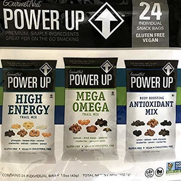 Power Up Trail Mix 100% Natural, Mega Omega Trail Mix, High Energy Trai Mix, Antioxidant Trai Mix, Variety Pack [.Variety Pack]